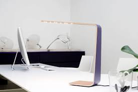 Desk Lamp Contemporary Wooden Led