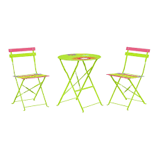 outdoor folding bistro set of table and 2 chairs 149 99