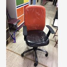 comfortable office chair. Plain Chair Leather Black Orange Comfortable Office Chair Intended H