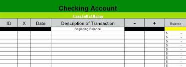 excel checkbook show your current balance automatically as you type free online