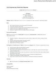 engineering technician resume resume sample for civil engineer technician  resume sample for civil engineer technician job