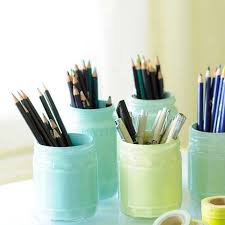 Image Graphic Designers Fun Diy Ideas For Your Desk Painted Pastel Jars Cubicles Ideas For Teens Diy Projects For Teens 40 Fun Diys For Your Desk