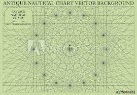 Antique Nautical Chart Map Vector Background Buy This