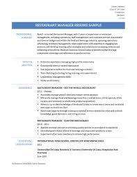 Prepossessing Resume Restaurant Manager Skills For Your Restaurant