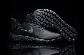 nike triple black roshe two leather men s women s shoes clearance uk