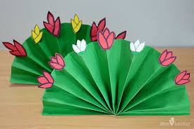 Folding Paper Flower How To Make Paper Flowers For Kids