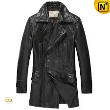 black leather pea coat cw850163 cwmalls com
