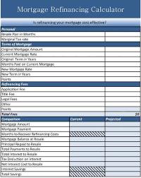 Home Loan Calculator Xls Mortgage Refinance Calculator Excel