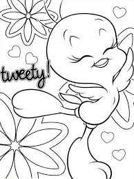 Small Picture Cute Tweety Bird coloring pages Free Printable Cute Tweety Bird