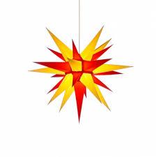 Herrnhuter Weihnachtsstern I6 Gelb Rot Mit Beleuchtung