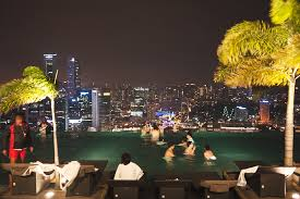 infinity pool singapore night. Hanging Off The Edge Of Pool And Seeing All Singapore Before Me, It Really Makes Any Other Infinity That Isn\u0027t Paired With Kind View Night T