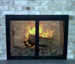 modern fireplace glass doors gallery doors design modern