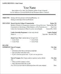 Resume Formats Sample And Resume Format Format Simple Student Resume ...