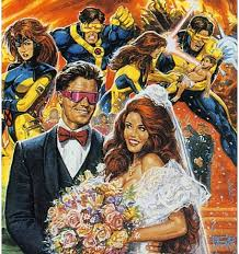 the wedding of scott summers and jean grey in x men 31 might just be the most 90s wedding ever as it includes both an appearance by cable the alternate