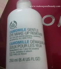 the body camomile gentle eye make up remover