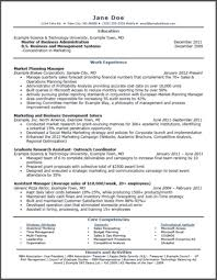 Mba Resumes   Free Resume Example And Writing Download