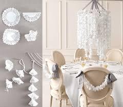 diy paper doily chandelier martha stewart weddings