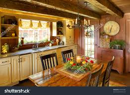 Primitive Kitchen Image Kitchen Dining Room Primitive Colonial Stock Photo 93954586