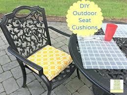 diy chair cushions no sew outdoor