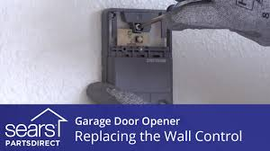 replacing the wall control on a garage door opener sears partsdirect