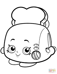 toaster clipart black and white. click the toasty pop white toaster shopkin clipart black and