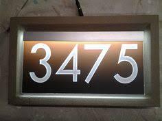 12v led address sign custom printed modern 3d style lettering in 6 lens colors led sign v73