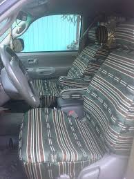 2001 toyota tundra front seats with green aztec seat covers and armrest covers full custom seat covers come with separate armrest covers and all necessary