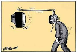 Resultado de imagem para charge de jornalismo falando sobre politicalha