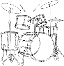Instruments De Musique 120 Objets Coloriages Imprimer
