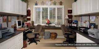 home office white. Raised Panel Office Cabinets With White Finish Custom Home