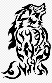 tribal wolf howling silhouette. Anthro Wolf Howling Tribal By Png With Silhouette