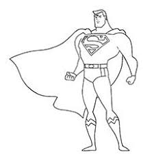 super hero coloring page
