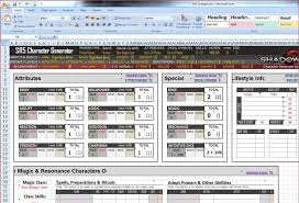 sr5 character sheet sr5 chargen sheet automated level up capabilities