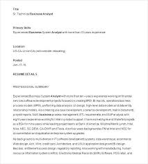 Business Analyst Resume Examples Sample Analyst Resume Business