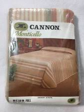 Cannon Quilts, Bedspreads & Coverlets | eBay & Cannon Monticello Full Sz Desert Stripe Bed Quilt Coverlet Blanket  Bedspread Vtg Adamdwight.com