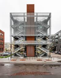 Minneapolis office building by Salmela Architect features a chequerboard  facade.
