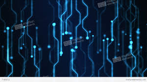 Abstract Technology Circuit Background Animation Loop Blue Stock