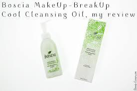 boscia makeup breakup cool cleansing oil my review