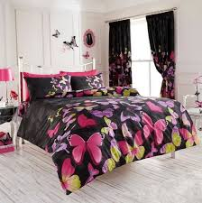 pink and black duvet covers