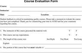 Sample Course Evaluation Forms. Presentation Judging Template ...