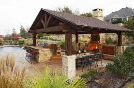 Covered Outdoor Kitchen Plans Backyard Covered Patio With Bar Building An Outdoor Kitchen