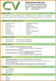 Employment Curriculum Vitae Sample Sow Template