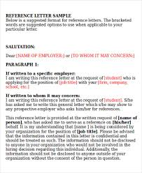 reference letter word format reference letter formats