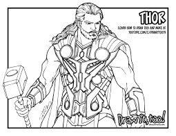 Small Picture Avengers Thor Coloring Pages Elioleracom