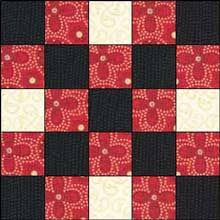Irish Chain Quilt Pattern: Single, Double and Triple Irish Chain ... & Double Irish Chain Quilt Block 1 Adamdwight.com