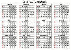 printable year calendar 2013 212 best calendars images calendar desktop calendars dress your tech