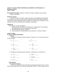 Adding And Subtracting Real Numbers Worksheets & worksheet 612792 ...