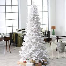 Flocked Christmas Tree 75 Ft Pre Lit Deluxe White On White Flocked Christmas Tree By