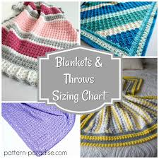 Blanket Size Chart From Lovey To King Sizes Pattern Paradise