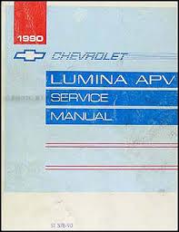 1990 chevy lumina apv minivan repair shop manual original